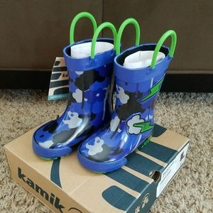 Kamik Blue Rainboots Wildcloud